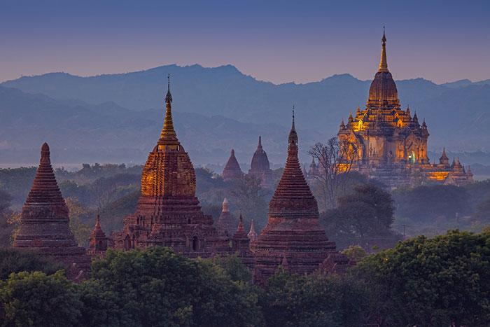 El sitio arqueologico de Bagan Myanmar