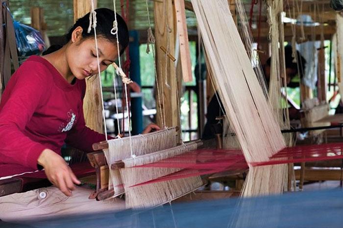 Tejido en Luang Namtha Laos