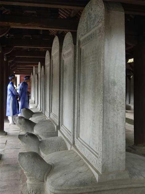 Estelas de doctores en el templo de la literatura