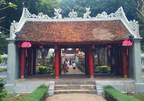 Puerta dai trung en el templo de la literatura