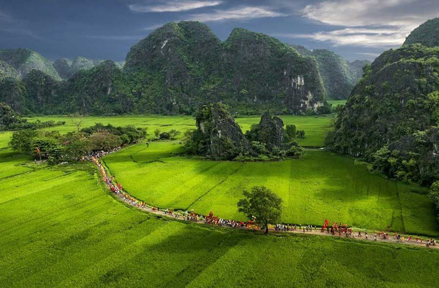 Templo Thai Vi en Tam Coc Ninh Binh