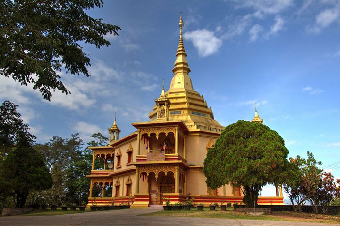 Templo de Vat Phon Phao en Laos