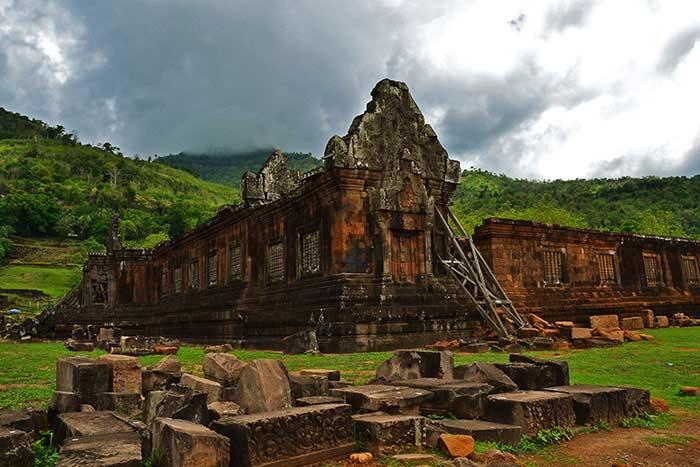 Templo Vat Phou en el sur de Laos