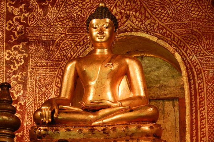 El templo War Sin Jong Jaeng en Pakbeng Laos