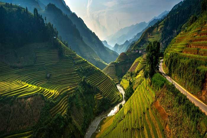 Terrazas de arroz en Mu Cang Chai