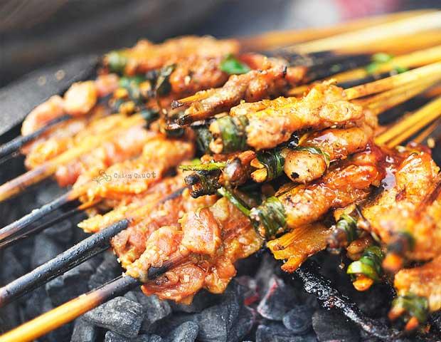 Thi xien nuong gastronomia de Hoi An