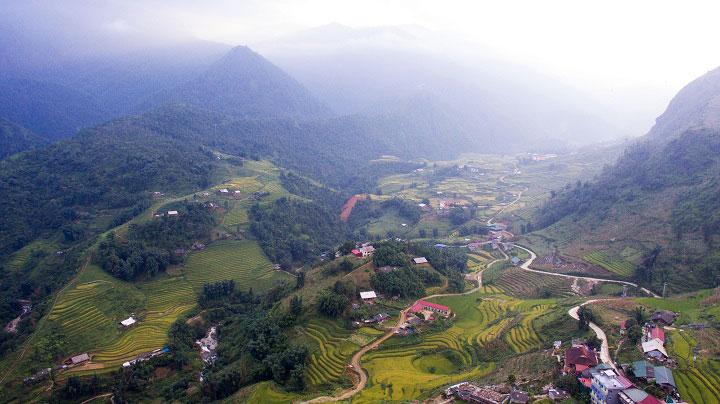 Valle de Muong hoa en Sapa Vietnam