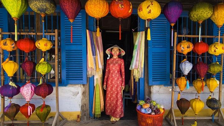 Tienda de linternas en Hoi An Vietnam