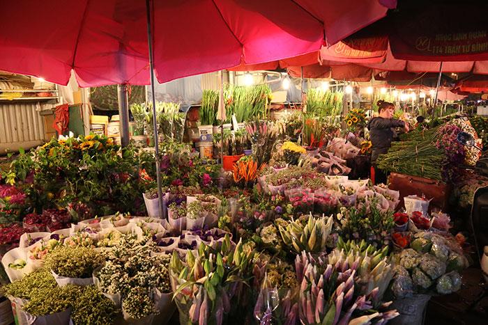 El mercado de flores de vietnam