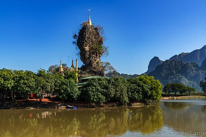 Monasterio Kyauk Ka lat en Myanmar