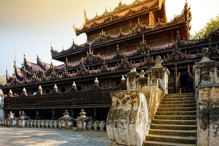 Monasterio de Shwenandaw Kyaung en Myanmar