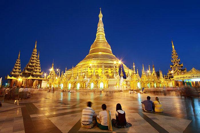 Pagoda Shwedagon en Myanmar