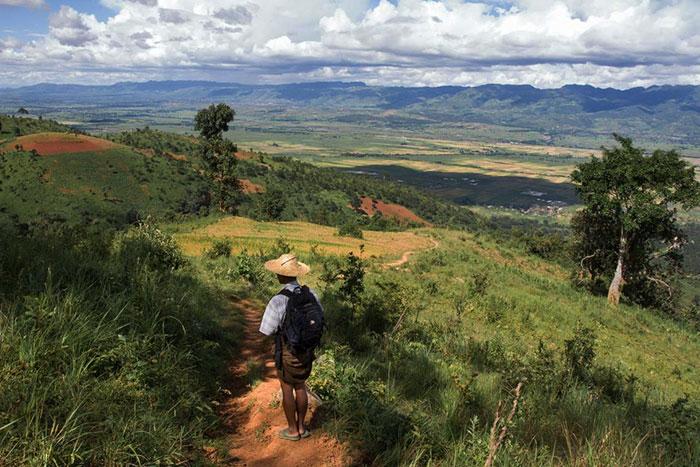 Montana hsipaw trekking en Birmania