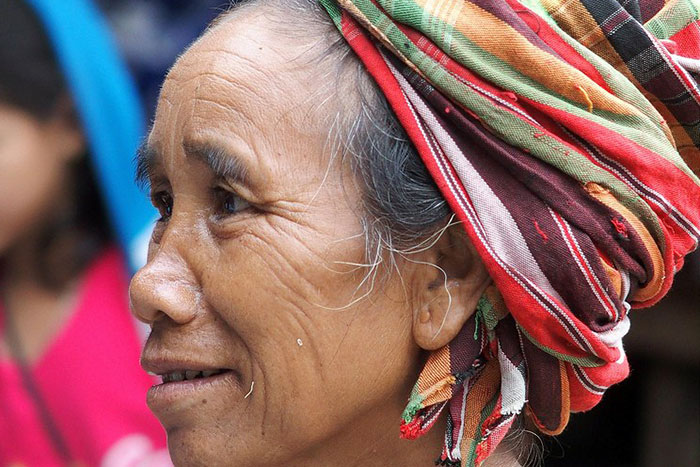 Mujer hsipaw en Birmania