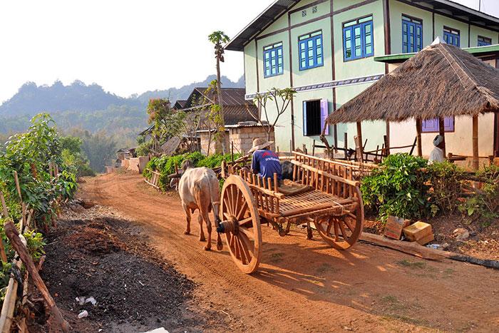 Trekking en Birmania pueblo de Kalaw