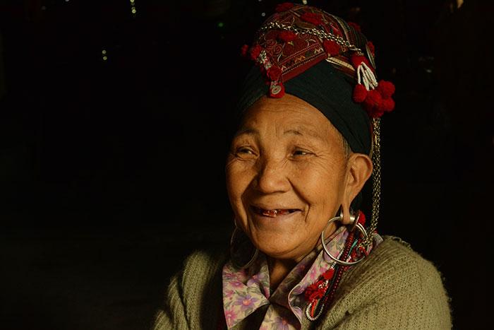 Poblador de la region de Phongslay en Laos