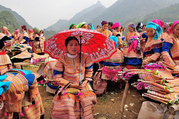 Mercado etnico de Bac Ha