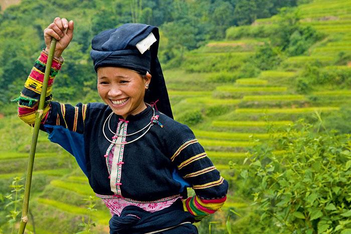 Poblador etnico del norte de Vietnam