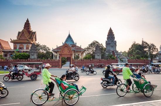 Transporte turistico en Camboya