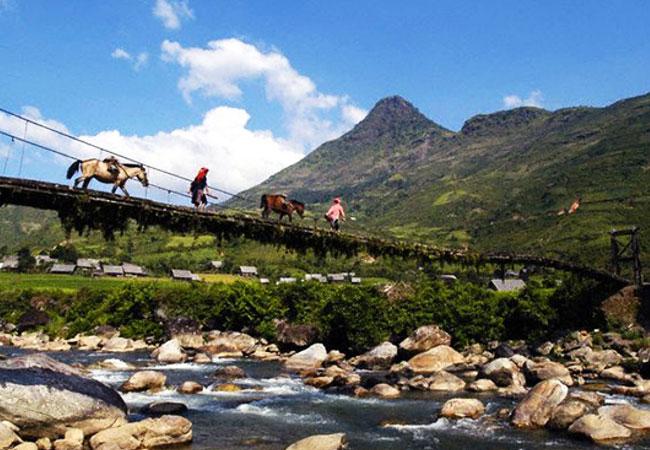 Trekking en las montanas de sapa