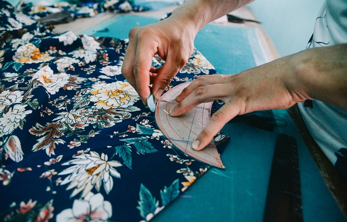 Trazado del vestido vietnamita ai dai