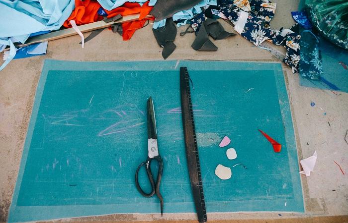 Materiales para la confeccion de un vestido ao dai
