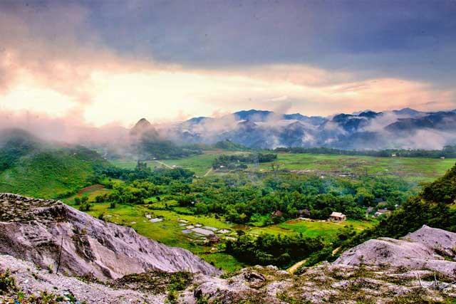 Paso Thung Khe en el valle de Mai Chau