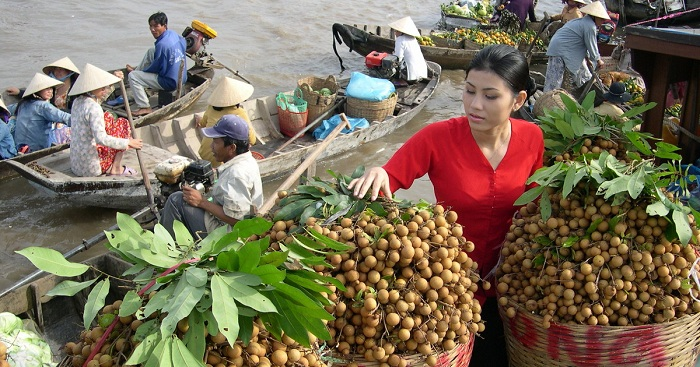 Viajar a vietnam en julio y agosto Longanes en el delta del Mekong