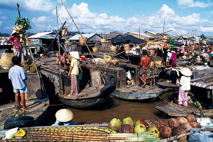 Qué ver en Vietnam en Vietnam en enero y febrero mercado flotante