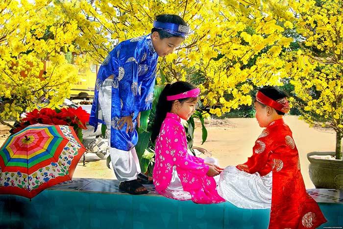 Viajar a Vietnam en Enero y febrero colorido Tet en en sur