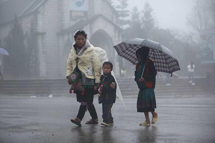 Que ver en Vietnam en enero y febrero niebla en Sapa