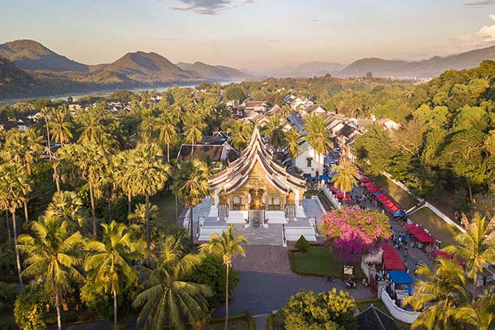 Ciudad de Luang Prabang en Laos