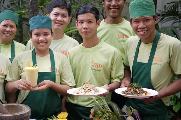 Restaurante Friends en Camboya