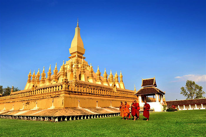 El That Luang en Laos