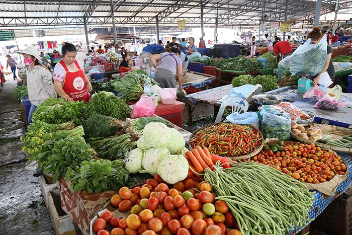Mercado local en Vientiane Laos