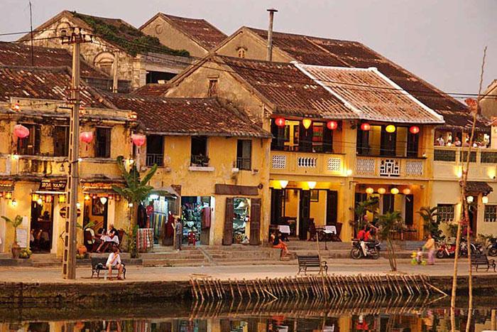 Arquitectura del casco antiguo de Hoi An Vietnam
