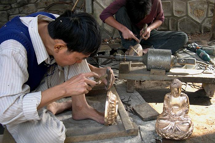 Artesanos en Hue Vietnam