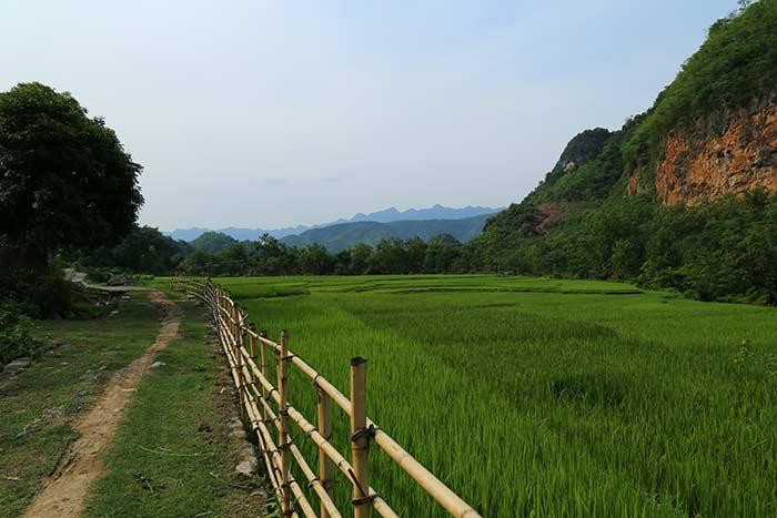 Valle de Mai Hich en Mai Chau Vietnam