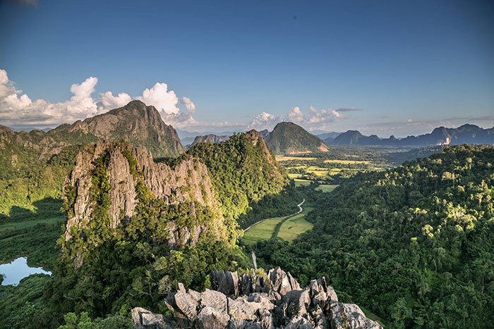 Montana Pha Nger en Vnag Vieng Laos