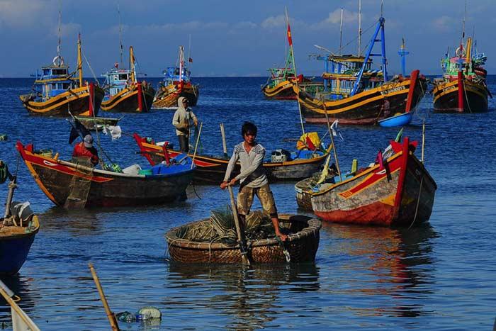 Pescadores en Mui Ne Vietnam