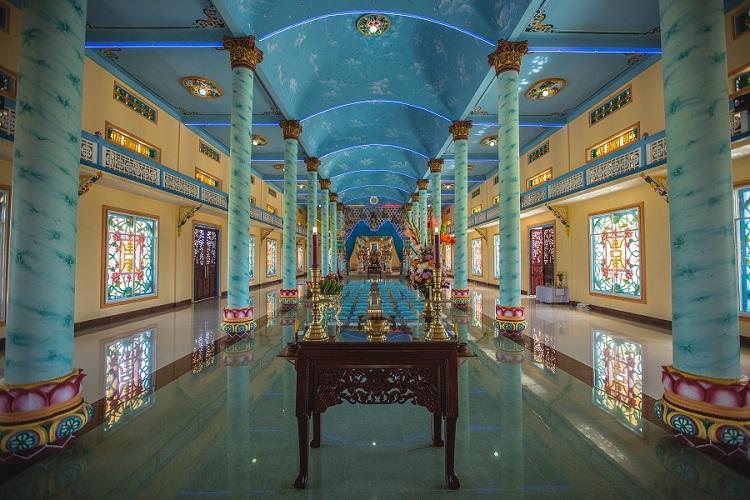Templo caodaismo Saigon Vietnam