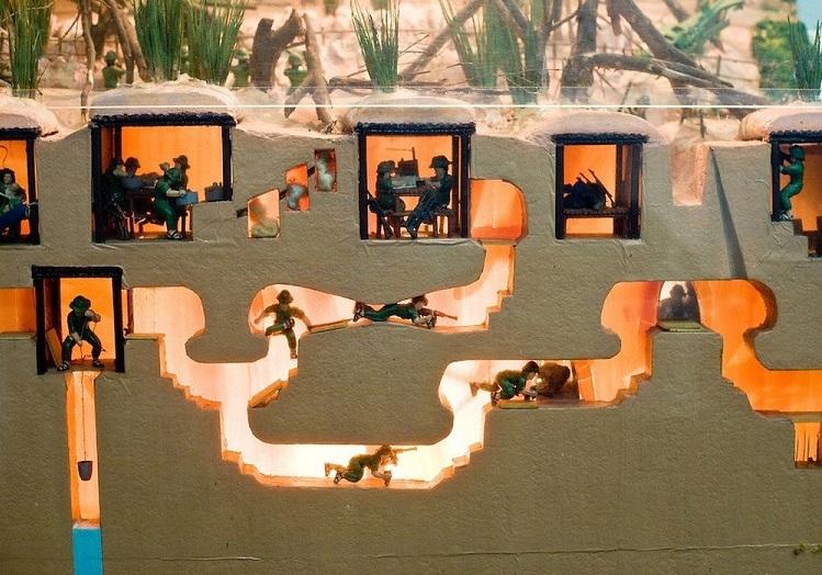 Plano de los tuneles de Cu Chi en Saigon Vietnam