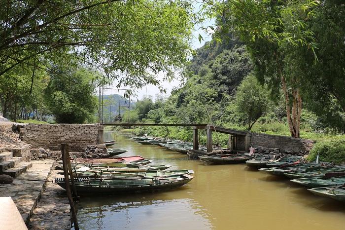 Botes sampan en Tam Coc Ninh Binh