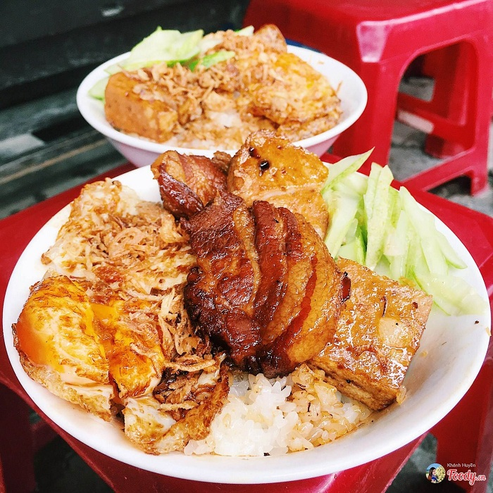 Arroz glutinoso desayuno vietnamita
