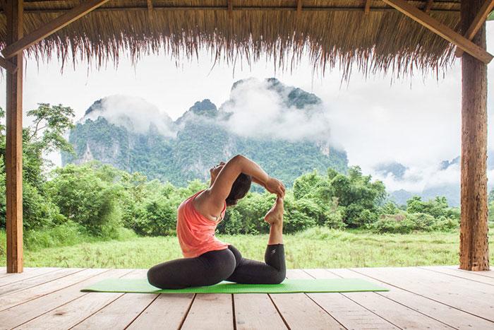 Yoga en Vang Vieng Laos